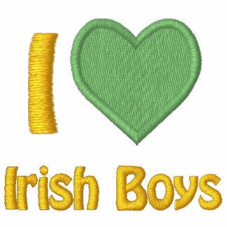 I Love Irish Boys Embroidered Womens Hoodie