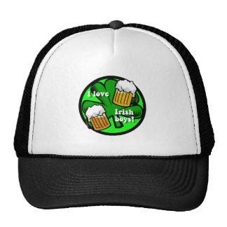 i love irish boys mesh hat