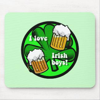 i love irish boys mouse pad