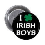 I Love Irish Boys Pinback Button
