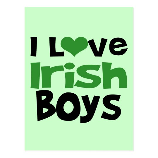 I love Irish Boys Postcard