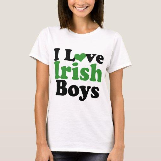 I love Irish Boys T-Shirt | Zazzle