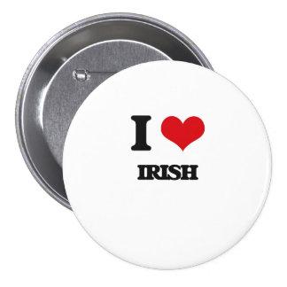 I Love Irish 3 Inch Round Button