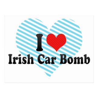I Love Irish Car Bomb Postcard