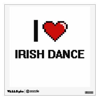 I Love Irish Dance Digital Retro Design Room Stickers