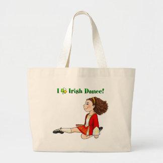 I love Irish dance Large Tote Bag
