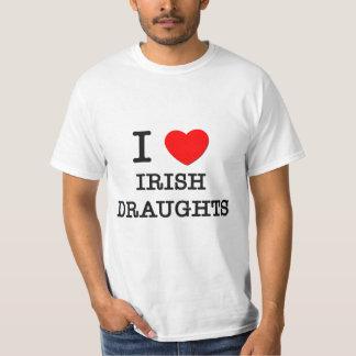 I Love Irish Draughts (Horses) Shirts