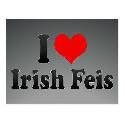 I love Irish Feis Postcard