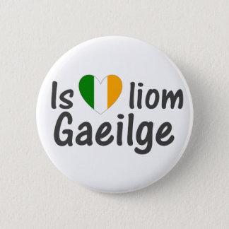 I Love Irish Gaeilge Gaelic Button Pin