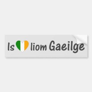 I Love Irish Gaeilge Gaelic Car Bumper Sticker