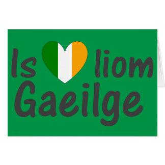 I Love Irish Gaeilge Gaelic Note Card