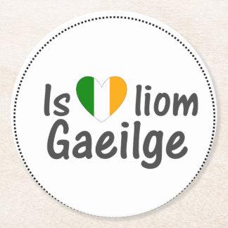 I Love Irish Gaeilge Gaelic Paper Coasters