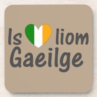 I Love Irish Gaeilge Gaelic Six Cork Coasters