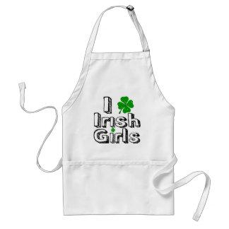 I love irish girls! adult apron