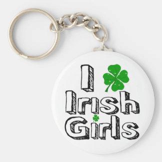 I love irish girls! key chain