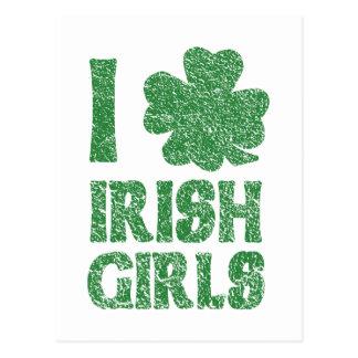I Love Irish Girls Postcard