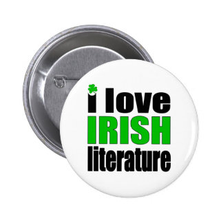 I Love Irish Literature Buttons
