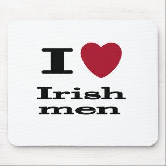 I Love Irish Men Mouse Pad