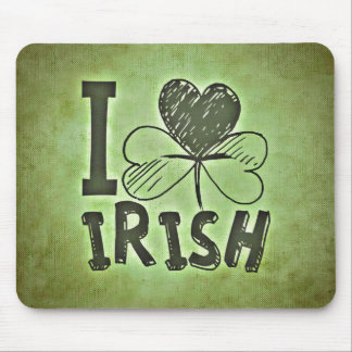 I Love Irish Mouse Pad