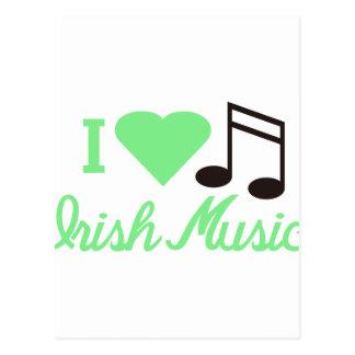 I Love Irish Music Postcard