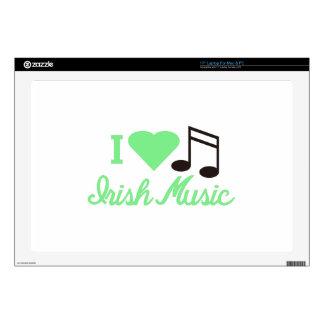 I Love Irish Music Decal For Laptop