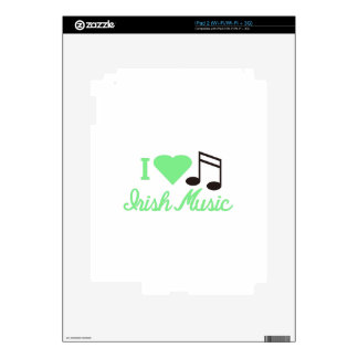 I Love Irish Music Skins For The iPad 2
