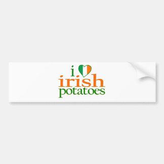 I Love Irish Potatoes Car Bumper Sticker