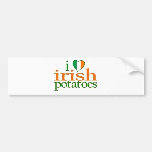 I Love Irish Potatoes Bumper Stickers