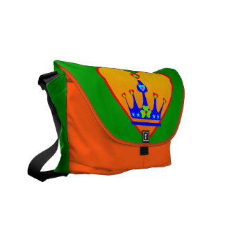 ♫♥I Love Irish-Shamrock-Rickshaw Messenger Bag♥♪ Messenger Bag