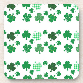 I Love Irish Shamrocks Cork Coaster
