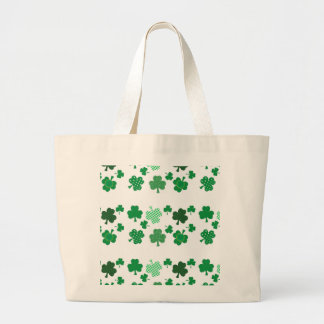 I Love Irish Shamrocks Jumbo Tote Bag