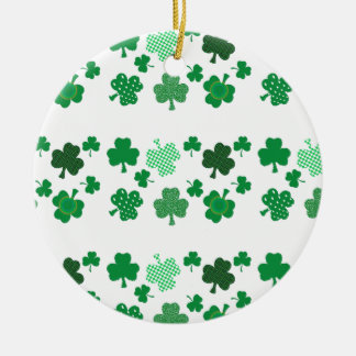 I Love Irish Shamrocks Round Ornament