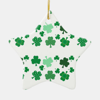 I Love Irish Shamrocks Star Ornament