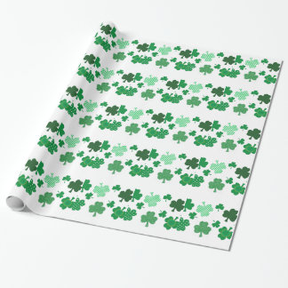 I Love Irish Shamrocks Wrapping Paper
