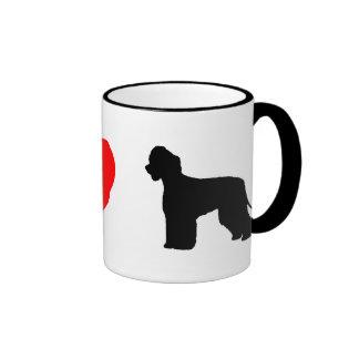 I Love Irish Water Spaniels Mug