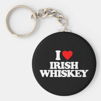 I LOVE IRISH WHISKEY KEYCHAIN