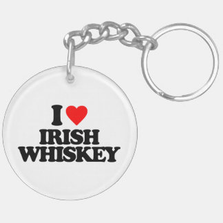 I LOVE IRISH WHISKEY ACRYLIC KEYCHAINS