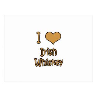 I Love Irish Whiskey Postcard