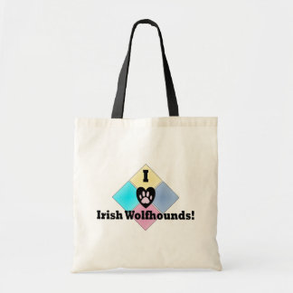 I Love Irish Wolfhounds Budget Tote Bag