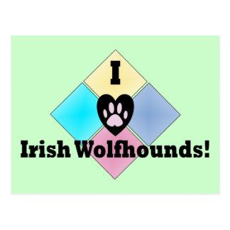 I Love Irish Wolfhounds Postcard