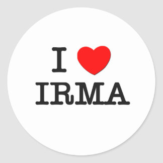 I Love Irma Classic Round Sticker