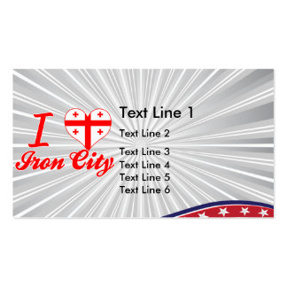 I Love Iron City, Georgia Double-Sided Standard Business Cards (Pack Of 100)