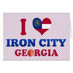 I Love Iron City, Georgia Greeting Card