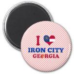 I Love Iron City, Georgia Magnet