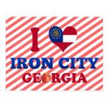 I Love Iron City, Georgia Postcard