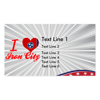 I Love Iron City, Tennessee Double-Sided Standard Business Cards (Pack Of 100)