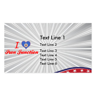 I Love Iron Junction, Minnesota Double-Sided Standard Business Cards (Pack Of 100)