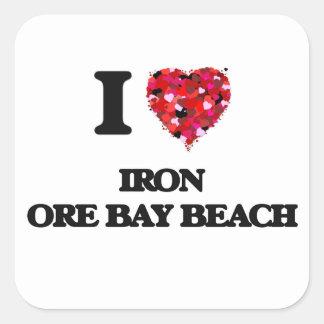 I love Iron Ore Bay Beach Michigan Square Sticker