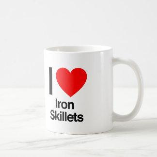 i love iron skillets coffee mug