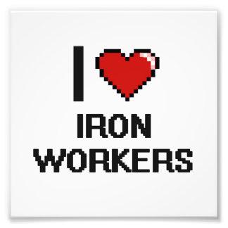 I love Iron Workers Photo Print